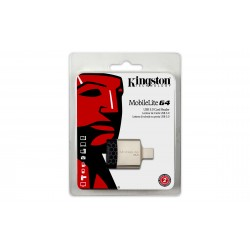 Kingston Technology - MobileLite G4 USB 3.0 Negro, Gris lector de tarjeta