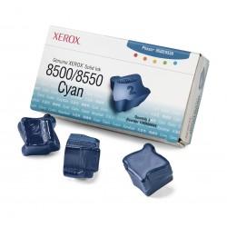 Xerox - Tinta sólida cián de marca 8500/8550 (3 barras) barra de tinta