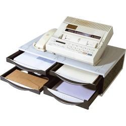 Fellowes - Machine Organiser De plástico Negro, Gris, Color blanco bandeja de escritorio