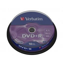 Verbatim - DVD+R Matt Silver 4.7GB DVD+R 10pieza(s)