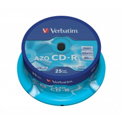 Verbatim - CD-R AZO Crystal CD-R 700MB 25pieza(s)