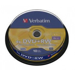 Verbatim - DVD+RW Matt Silver 4.7 GB 10 pc(s)
