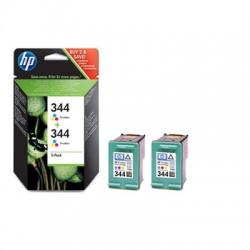 HP - Pack de ahorro de 2 cartuchos de tinta original 344 Tri-color
