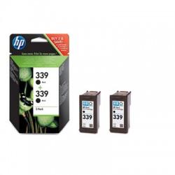 HP - Pack de ahorro de 2 cartuchos de tinta original 339 negro