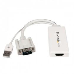 StarTech.com - Adaptador VGA a HDMI con audio y alimentación USB – Conversor VGA a HDMI portátil – 1080 p