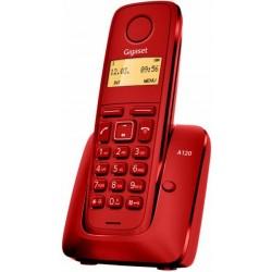 Gigaset - A120 Teléfono DECT Rojo Identificador de llamadas