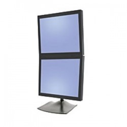 "Ergotron - DS Series DS100 Dual Monitor Desk Stand, Vertical 61 cm (24"") Negro"