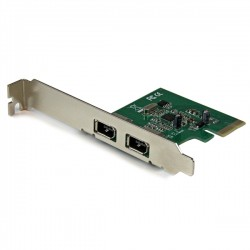 StarTech.com - Tarjeta PCI Express de 2 Puertos FireWire 1394a - Adaptador PCI-E FW400