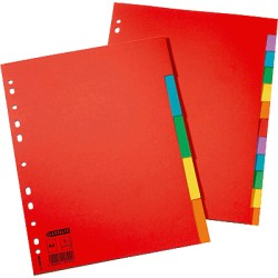 Esselte - Multicoloured Card Dividers divisor Multicolor 1 pieza(s)
