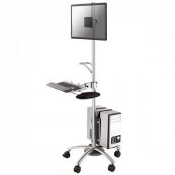 Newstar - FPMA-MOBILE1800 mueble y soporte para dispositivo multimedia Multimedia cart Plata