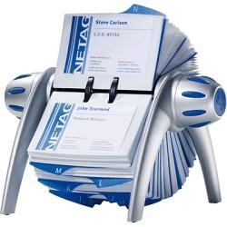 Durable - Visifix flip acollador de tarjeta Azul, Plata