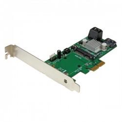 StarTech.com - Tarjeta Controladora de 3 Puertos SATA III RAID 6Gbps PCI Express con Ranura mSATA - HyperDuo