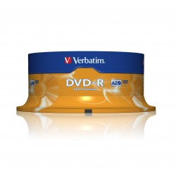 Verbatim - DVD-R Matt Silver 4.7GB DVD-R 25pieza(s)