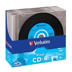 Verbatim - CD-R AZO Data Vinyl CD-R 700MB 10pieza(s)