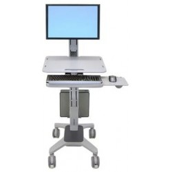 "Ergotron - WorkFit C-Mod, Single Display Sit-Stand Workstation 27"" Gris"
