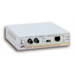 Allied Telesis - 100TX to 100FX (ST) Multi-Mode Media Converter convertidor de medio 100 Mbit/s