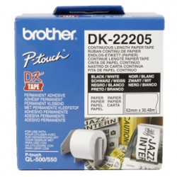 Brother - Cinta continua de papel térmico (blanca) cinta para impresora de etiquetas - 15703