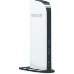 Trendnet - TU3-DS2 Negro, Color blanco base para portátil y replicador de puertos