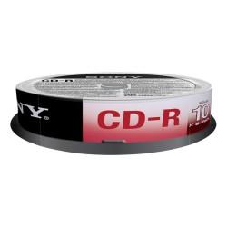 Sony - CD-R 700 MB (80 min), 10 pk 700MB 10pieza(s)