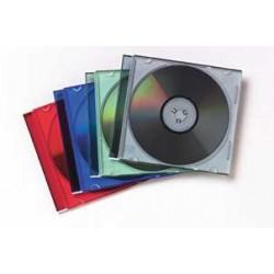 Fellowes - 98316 funda para discos ópticos Caja transparente para CD 1 discos Negro, Translúcido