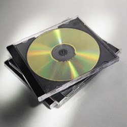 Fellowes - 98310 Jewel case 2discos Negro, Transparente funda para discos ópticos