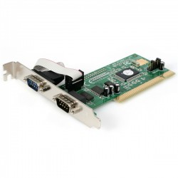 StarTech.com - Tarjeta Adaptadora PCI de 2 Puertos Serie RS232 DB9 UART 16550 Serial - 5V