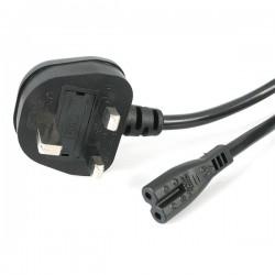 StarTech.com - Cable de Alimentación Estándar Inglés de 1m para Ordenador Portátil - Cable BS-1363 a C7 para Laptop