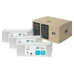 HP - Pack de ahorro de 3 cartuchos de tinta UV DesignJet 83 cian de 680 ml
