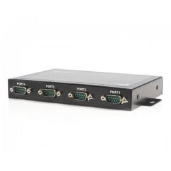 StarTech.com - Adaptador Concentrador Hub 4 Puertos Serie Serial RS232 DB9 a USB con Retención Puerto COM