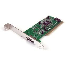 StarTech.com - Tarjeta Adaptadora PCI 1 Puerto eSATA 1 Puerto SATA con Bracket de Perfil Bajo Low Profile