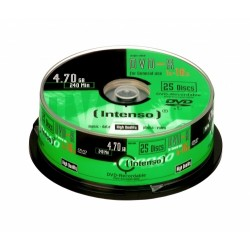 Intenso - DVD-R 4.7GB, 16x 4.7GB DVD-R 25pieza(s)