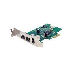 StarTech.com - Adaptador Tarjeta FireWire PCI-Express Bajo Perfil de 2 Puertos F/W 800 y 1 Puerto F/W 400