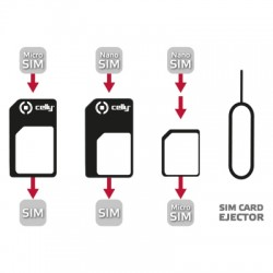 Celly - SIMKITAD SIM card adapter adaptador para tarjeta de memoria sim / flash