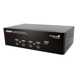 StarTech.com - Conmutador Switch KVM 4 Ordenadores 2 Monitores Dobles DVI VGA Audio Puertos USB 1920x1440