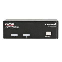 StarTech.com - Conmutador Switch KVM 2 puertos HDMI con Hub Concentrador USB 2.0 Audio - 1920x1200