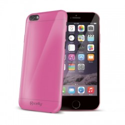 Celly - Gelskin Funda Rosa, Transparente