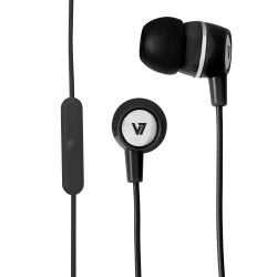 V7 - Auriculares estéreo con micrófono incorporado - Negro