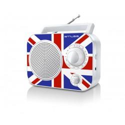 Muse - M-060 UK radio Portátil Analógica Negro, Azul, Rojo