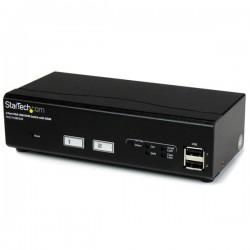StarTech.com - Switch Conmutador KVM de 2 Puertos VGA con Tecnología de Conmutado Rápido (DDM) y Cables