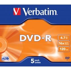 Verbatim - DVD-R Matt Silver 4.7GB DVD-R 5pieza(s)