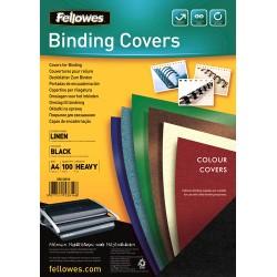 Fellowes - 5381402 A4 Papel Negro 100pieza(s) cubierta