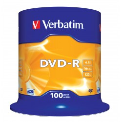 Verbatim - DVD-R Matt Silver 4,7 GB 100 pieza(s)