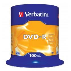 Verbatim - DVD-R Matt Silver 4.7GB DVD-R 100pieza(s)