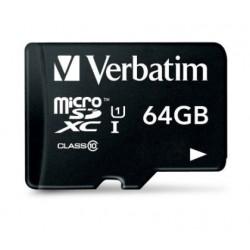 Verbatim - Premium 64GB MicroSDXC Clase 10 memoria flash