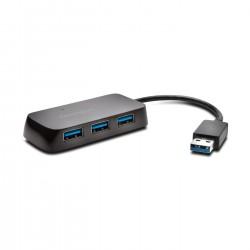 Kensington - Hub USB 3.0 de cuatro puertos UH4000: negro