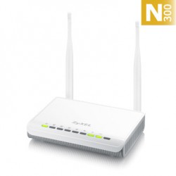 Zyxel - NBG-418N v2 router inalámbrico Banda única (2,4 GHz) Ethernet rápido Negro