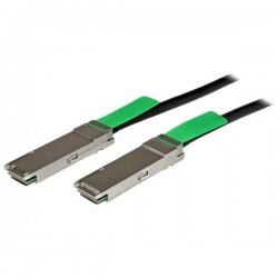 StarTech.com - Cable de 2m QSFP+ Twinax Ethernet Direct Attach Pasivo de Cobre 40 Gigabits (40Gb/s)