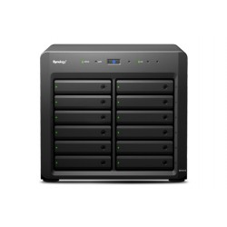 Synology - DX1215 Escritorio Negro unidad de disco multiple