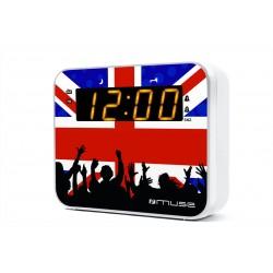 Muse - M-165 UK radio Reloj Analógica Negro, Azul, Rojo, Blanco