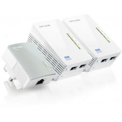 TP-LINK - TL-PA4010 + 2x TL-WPA4220 500Mbit/s Ethernet Wifi Blanco